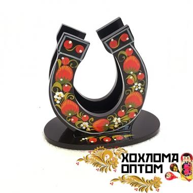 """Салфетница c хохломской росписью """"Подкова"""""""