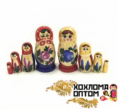 """Матрешка 4 кукольная """"Семёновская гуашь"""""""