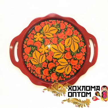 """Plate """"Khokhloma Handles"""""""