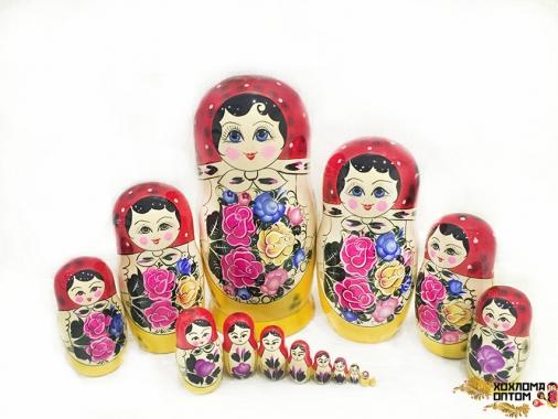 Матрешка традиционная 15 кукольная