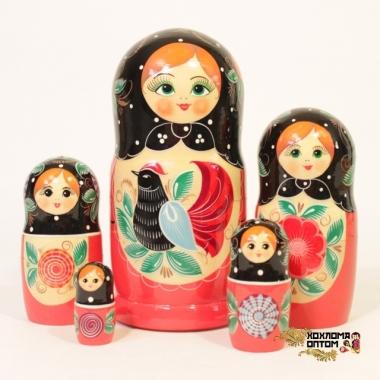 """Матрешка """"Городец"""" 5 кукольная"""