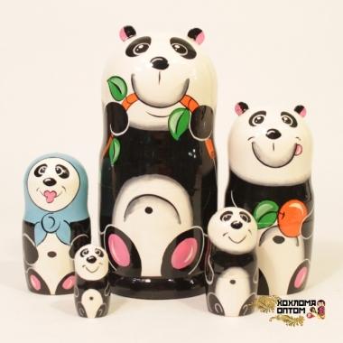 """Matryoshka """"Panda"""" (5 dolls)"""