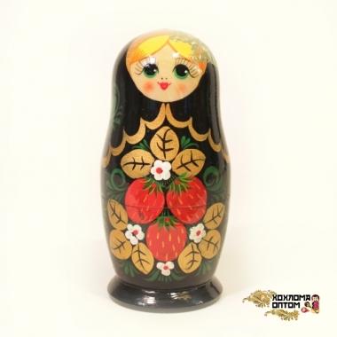"""Matryoshka """"Khokhloma with butterfly"""" (5 dolls)"""