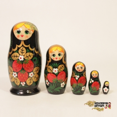 "Матрешка ""Хохлома с бабочкой"" 5 кукольная"