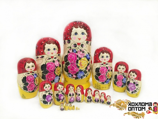 Матрешка традиционная 20 кукольная