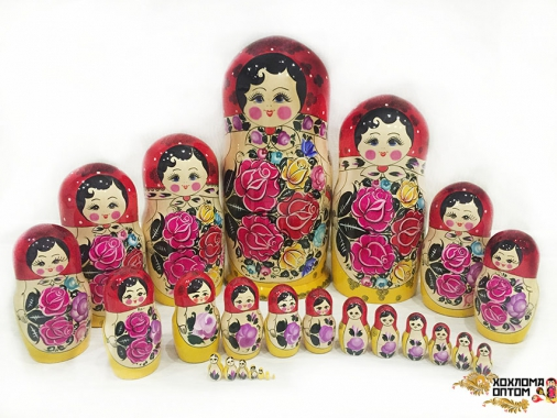 Matryoshka traditional (25 dolls)