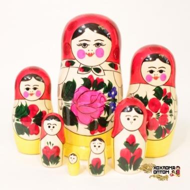 Матрешка традиционная 7 кукольная
