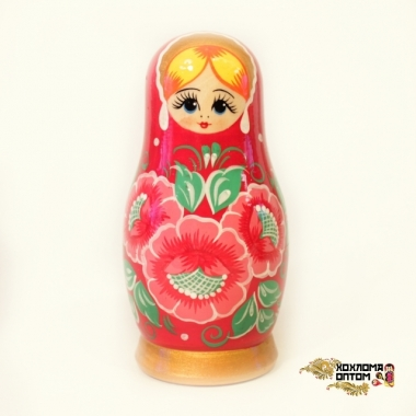 """Матрешка """"Вятка красная малая"""" 5 кукольная"""