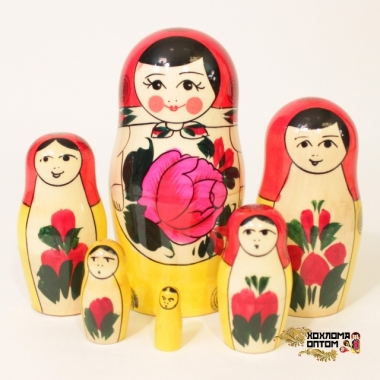 Матрешка традиционная 6 кукольная