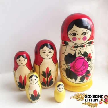 Matryoshka traditional average (5 dolls)