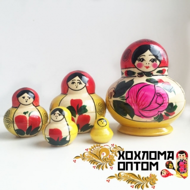"Matryoshka traditional ""Torch"" (5 dolls)"