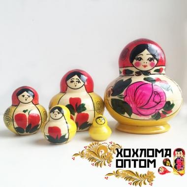 """Матрешка традиционная """"Фонарик"""" 5 кукольная"""