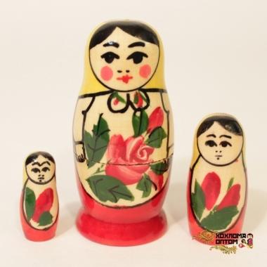 Матрешка традиционная 3 кукольная
