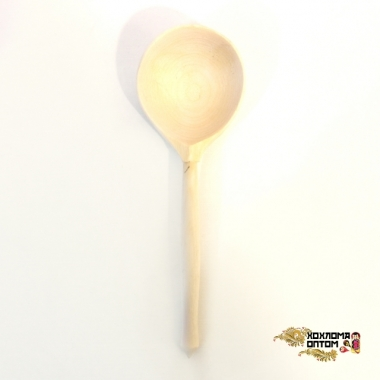 Wooden tablespoon without painting (whole spoon)