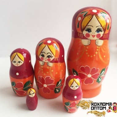 "Matryoshka ""Necklace"" (5 dolls)"