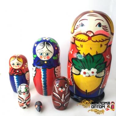 """Матрешка """"Репка"""" 6 кукольная"""