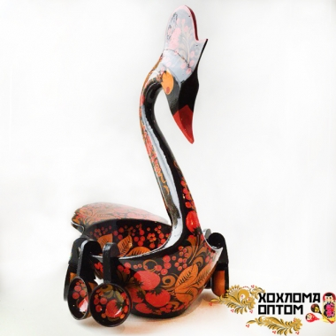 "Swan with ladles ""Khokhloma"""