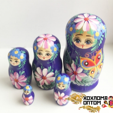 "Matryoshka ""Butterfly"" (5 dolls)"