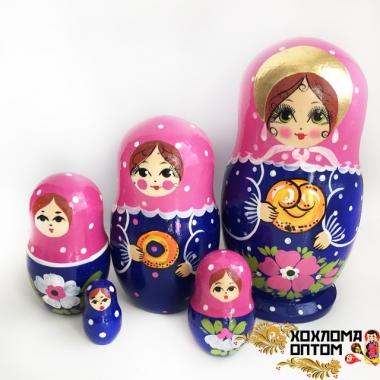 """Matryoshka """"Pretzel"""" (5 dolls)"""