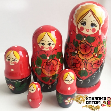 "Matryoshka ""Vyatka Red"" (5 dolls)"