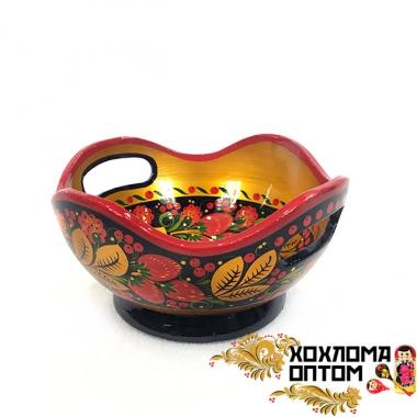 khokhloma candy holder with handles