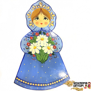 "Pastry board ""girl with daisies"""