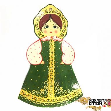 """Pastry board """"Green sundress gouache Girl"""""""