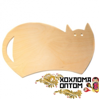 "Pastry board ""Cat"" without painting"