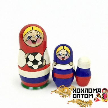 "Matryoshka ""Football"" (3 dolls)"