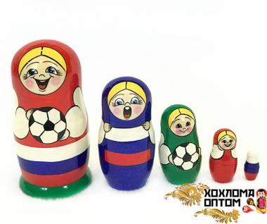 "Матрешка ""Футбол"" 5 кукольная средняя"