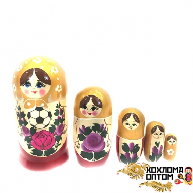 Matryoshka traditional big Football (5 dolls)