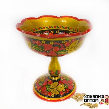 """Fruit bowl """"Khokhloma"""" big"""