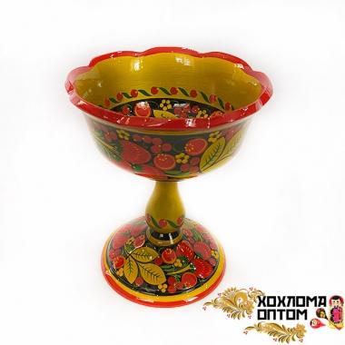 """Fruit bowl """"Khokhloma"""" medium"""