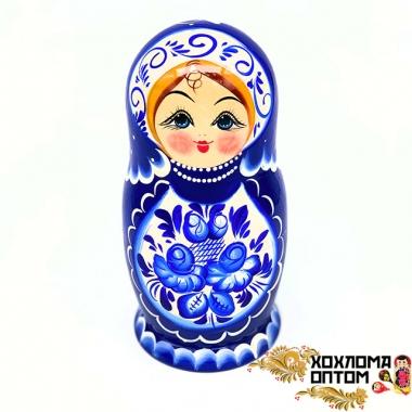 """Matryoshka """"gzhel'skaya"""" (5 dolls big)"""