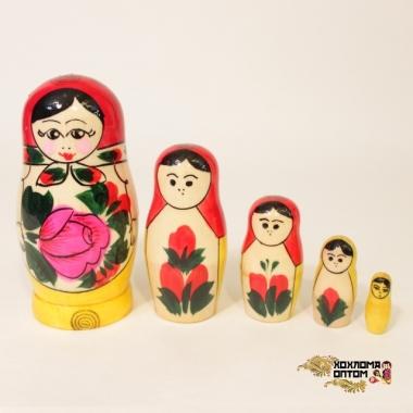 Матрешка традиционная 5 кукольная малая