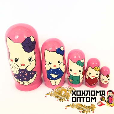 "Matryoshka ""Kitty"" (5 dolls)"