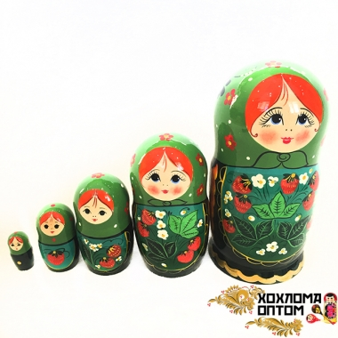 "Matryoshka ""Green Strawberry"" (5 dolls)"