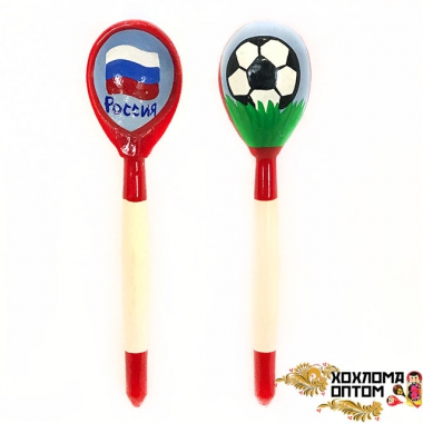 "Wooden teaspoon  ""Football"""