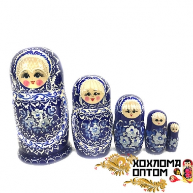 "Matryoshka ""New pearl"" (5 dolls)"
