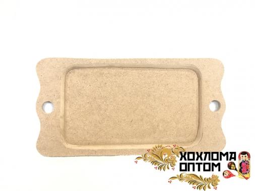 """Tray rectangular small  """"Khokhloma"""" without painting"""