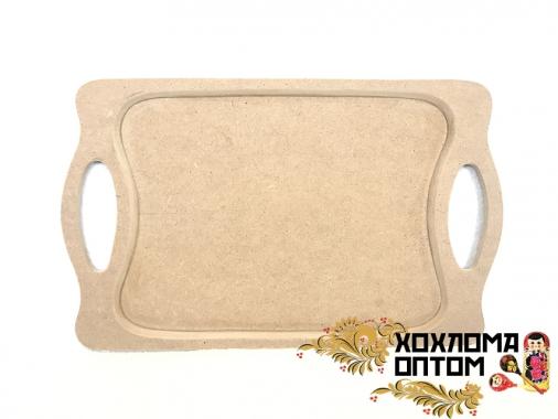 """Tray rectangular  """"Khokhloma"""" without painting"""