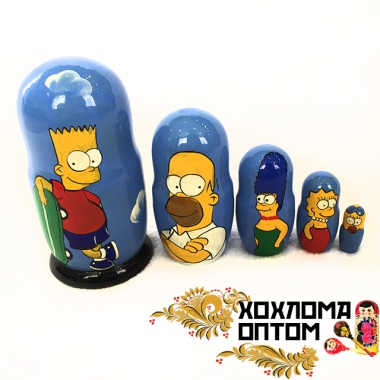"Matryoshka ""The Simpsons"" (5 dolls)"