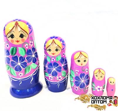 """Матрешка """"Сирень малая"""" 5 кукольная"""