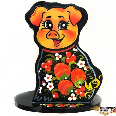 """Napkin holder """"Khokhloma Piggie"""""""