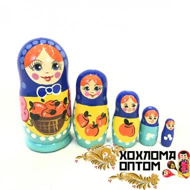 """Матрешка """"Яблочки"""" 5 кукольная"""