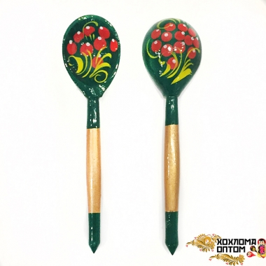"Wooden teaspoon  ""Greenie"""