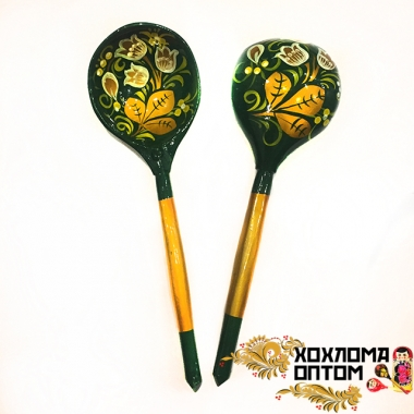 "Wooden tablespoon  ""Khokhloma Green"""