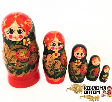 """Matryoshka """"Wild Strawberry"""" (5 dolls)"""