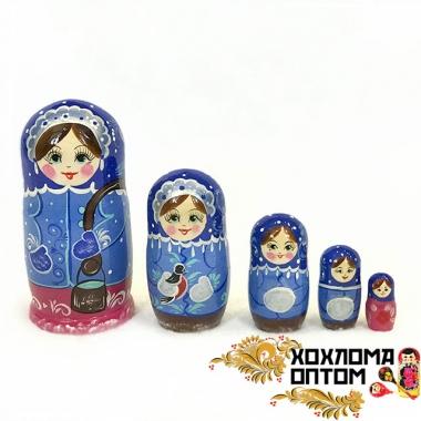 "Матрешка ""Зимушка"" 5 кукольная"