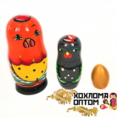 "Matryoshka-fairytale ""Golden cock"" (3 dolls)"